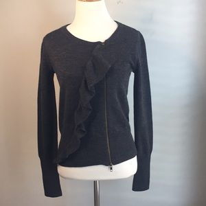 J. Crew Wool Zippered Sweater Jacket size XS